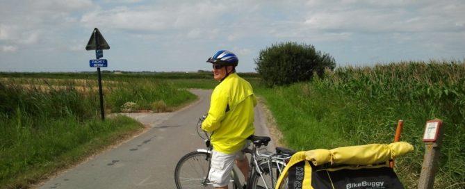 Carril bici hacia Oostende