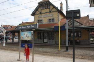 Estación de tren de De Haan.