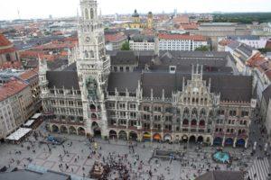 Ayuntamiento (Rathaus) y Marienplatz. Munich