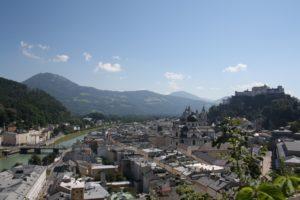 Vistas desde el monte Münchsberg. Salzburgo