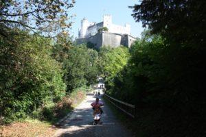 Llegada a la fortaleza Hohensalzburg. Salzburgo