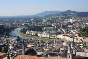 Vistas desde la Fortaleza Hohensalzburg. Salzburgo