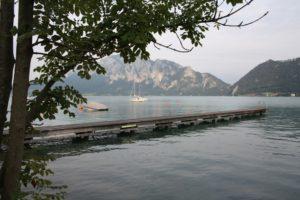 Embarcadero en Unterach. Lago Attersee.