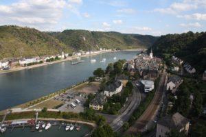 Espectaculares vistas del Rin desde el castillo. St Goar