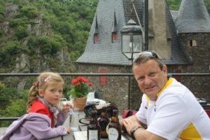 Restaurante en el castillo Eltz.