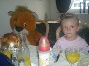 Desayunando en Trittenheim