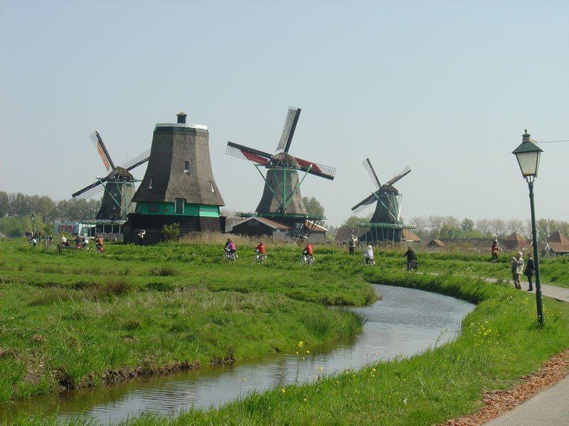 Molinos de viento en los Países Bajos