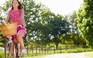 En forma en bicicleta