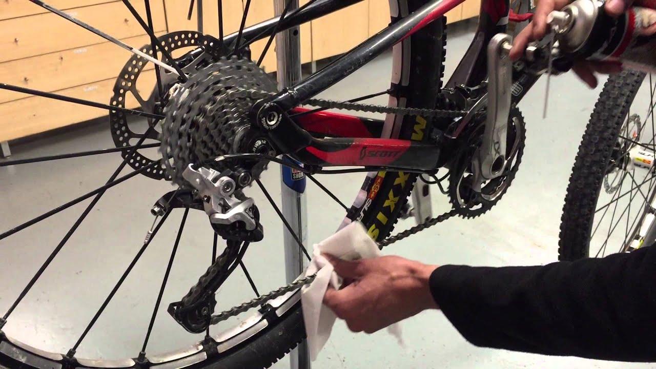 Importante lubricar la bicicleta