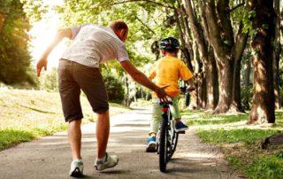 Enseñar a montar en bicicleta